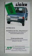 Prospekt Ligier Optima 50 GL, 7.1993, 6 Seiten, folder