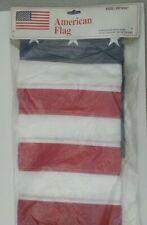"USA American Flag Applique & Embroidered House Flag Stars & Stripes USA 28""x50"""