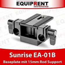 Sunrise EA-01B Rig Baseplate with Stativanschluss and 15mm Rod Support (EQ066)