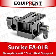 Sunrise ea-01b Rig basetta con collegamento treppiede e 15mm supporto Rod (eq066)