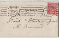 Stamp 1d red KGV used 1917 on National Bank of Australia cover sent to St Arnaud