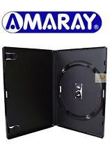 200 Unica Standard Nero DVD Case 14 MM DORSO vuoto RICAMBIO COPERTURA Amaray