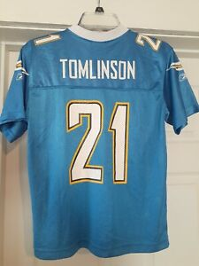 Reebok LaDainian Tomlinson San Diego Chargers Jersey #21 Youth (Med.) Blue NWOT