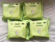 Lacura Cleansing Facial Wipes For Sensitive Skin, Removes Waterproof Mascara X4