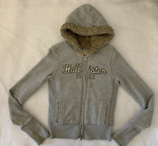 Hollister Girls Lined Gray Jacket Size Medium
