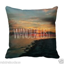 "WANDERLUST, 16"" x 16"" pillow, featuring photography by Lisa Casineau"