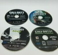 PS3 4 Game Lot Call Of Duty Modern Warfare Black Ops MW3 MW4 Ghost Disk Only