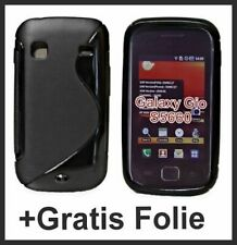 TPU Silikon Hülle Case Cover für Samsung Galaxy Gio S5660 Schwarz