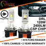 FORD RANGER 2016+ H15 120W CSP SEOUL LED HEADLIGHT CANBUS BULBS DRL HIGH BEAM UK