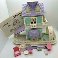 Vintage Precious Places Baby's Nursery Cottage Fisher Price Magnetic Dollhouse