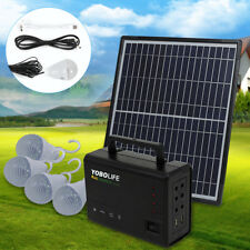 New listing 4 Led Lamps Solar Panel Lighting Kit Solar Charger 12W Generator Power Inverter