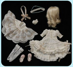 New Dress clothes Hair shoes For 1/6 BJD Doll Fairyland Littlefee Hwayu A