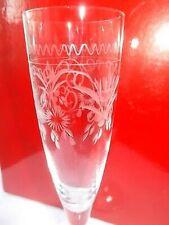 1 Theresienthal Sektglas m. geschliffenem Dekor und Noppen--(6 vorhanden)