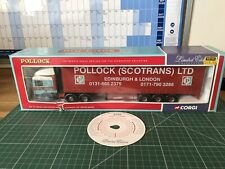 Corgi 1:50 ERF EC Series Curtainside Pollock (scotrans) LTD