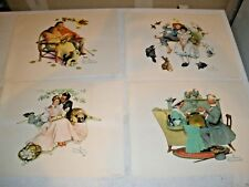 "Lot of 4 Normal Rockwell Pictures Standard Packaging Corp 11"" X 14"""