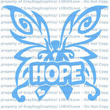 Hope Butterfly Vinyl Decal Awareness Ribbon Sticker Cancer Car Auto Vehicle