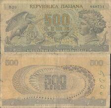 500 LIRE TESTA DI ARETUSA DEC.23/02/1970 SENZA FIBRILLE R@RO