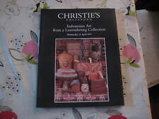 CHRISTIES CATALOGUE APR97 INDONESIAN ART FROM A LUXEMBOURG COLLECTION