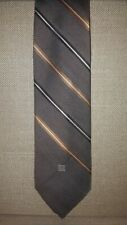 GIVENCHY GENTLEMEN PARIS For Carter & Holmes Brown Striped Neck Tie 58 x 3""