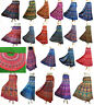 Indian Women Wrap Around Art Ethnic Print Rapron Printed Cotton Long Size Skirt