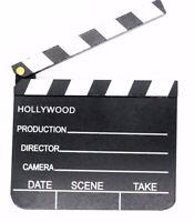 Regieklappe Kameraklappe Filmklappe Hollywood Holz 20 x 18 cm Movie Film Tafel
