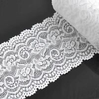 10cm width white Springy Lace Fabric CP0344 DIY yard/lot 2 decoration wedding