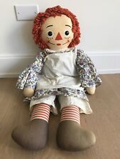 "Vintage Large RAGGEDY ANN DOLL 32"" By Knickerbocker Toy Co. 1970s"