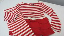 Baby Gap Red/ White Striped Shirt Top W/ Leggings Size 5T EUC TL63