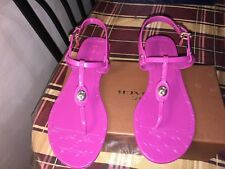 Coach Pier Shiny Jelly Womens Size 8 Pink Thongs Sandals Shoes 1646
