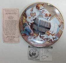 Hamilton Collection Country Kitties Series - All Washed Up Collectors Plate Coa