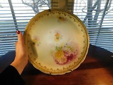 Hand Painted Rosenthal Bavaria Iris Hand Painted  Charger Plate 11 1/4 Chrysanth