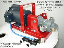 New Portable Waste/Used Oil Pump for Heaters,Burner,Furnace,Biodiesel,WVO,12 GPM