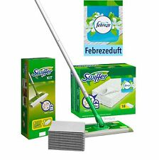 Swiffer Starter Set Bodenwischer + 8 Tücher + 18 trockene Bodentücher Febreze