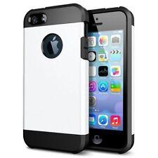 Housses et coques anti-chocs blancs métalliques pour téléphone mobile et assistant personnel (PDA) Apple