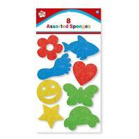 Kinder 8 Verschiedene Farbe Form Bade Spielzeug Schwamm Set Für Art Craft Malen