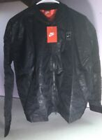 Nike Womens Tennis Court Bomber Jacket Medium Zipper Black 715225 010 Light NWT