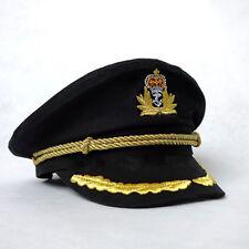 Unisex Men Cotton Sailor Hat Officer Stag Night Nautical Fancy Dress Captain Cap