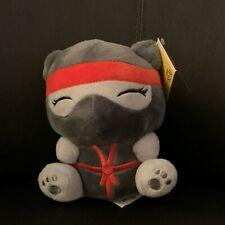 "Adorable Gray Nina Ninja Bear Plush Soft 6"" Russ: Me Bears Fantasy Kingdom New"