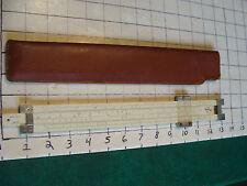 vintage Slide Rule: PICKETT 901-T, simplex in case