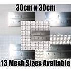 Stainless Steel woven wire mesh, 30cm square sheet. (Fine - Heavy duty coarse)