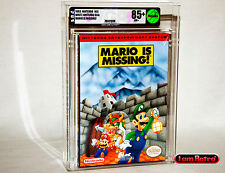 Mario is Missing Nintendo NES Brand New Sealed VGA 85+ Gold Mint Condition