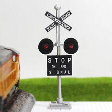JTD436R 4 pcs O Scale  Railroad Crossing Signals 4 heads LEDs made Long Life 12v