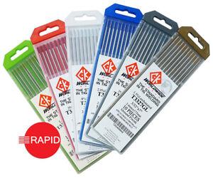 CK Tig Welding Tungsten Electrodes, 0.5 - 3.2mm (Gold,Blue,Red,Grey,White,LaYZr)