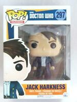 FUNKO POP VINYL | DOCTOR WHO | JACK HARKNESS 297 with FREE PROTECTOR
