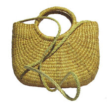 132923796 Paja tejidos a mano Bolsón Cartera bolso para el hombro, Bohemio Verano  Playa Picnic Bolsa BH54S