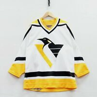 VTG Pittsburgh Penguins Authentic Fight Strap CCM Center Ice Jersey Size 44 NHL