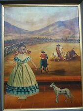 Mexican Painting, Nina at Bull Fight