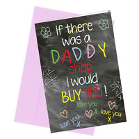 #276 DADDY BIRTHDAY / FATHERS DAY CARD Greeting Comedy Funny Humour Quality
