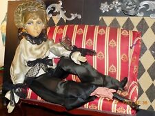 "Ant. French ""Smoker"" Boudoir 1920 Doll Rare ! Silk Face ~ Sideways Glancing Eyes"