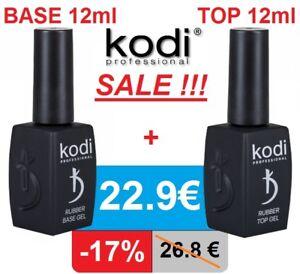 SET! 12ml BASE + TOP Kodi Professional - Gel LED/UV Rubber Nagellack Nail Coat.